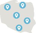 centra handlowe - mapa